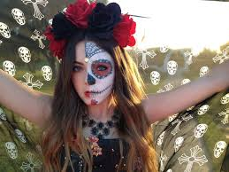 today i am going to show you how to transform yourself into a sugar skull inspired