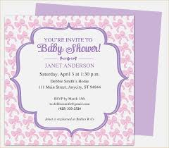 Invite Templates For Word Stunning Free Baby Shower Invitations Templates For Word Free Ba Shower