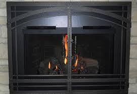 la canada flintridge fireplace glass doors