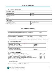 Construction Phase Fire Site Safety Plan Template - Health And ...