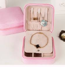 portable jewelry display box makeup organizer jewelry container and casket gift box