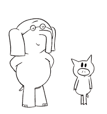 Elephant And Piggie Coloring Page School Library Stuff Piggie