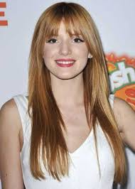 ginger hairstyle with bangs for long thin hair