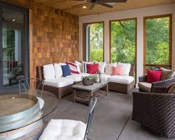 screened covered patio ideas. This Is An Example Of A Beach Style Screened-in Porch Design In Minneapolis. Screened Covered Patio Ideas