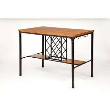 Wine rack bar table Small Dora Oak Wine Storage Pubbar Table Better Homes And Gardens Bar Table Builtin Wine Rack Kitchen Dining Room Furniture