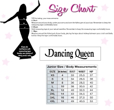 Colors Dress Size Chart Dancing Queen Dq 9932