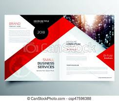 Modern Business Bifold Brochure Design Template Or Magazine Page Design.
