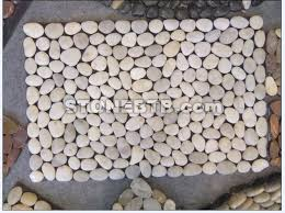 china natural white garden pebbles stone floor