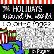 This coloring page is for private or family use only. Christmas Around The World Coloring Pages Christmas Coloring Pages