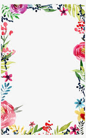 Border Design Border Design Floral Watercolor Background Watercolor