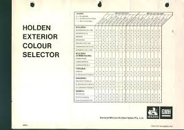 72 Perspicuous Holden Commodore Colour Chart