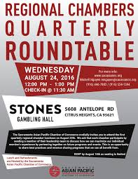 regional chambers quarterly roundtable