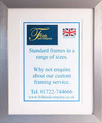 brushed pewter 14x11 frame by frith and company