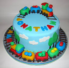 Birthday Cake Designs For 3 Year Olds Train Cakes For Boys Traincake For A Two Years Old Boy 2