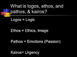 what is logos ethos and pathos kairos