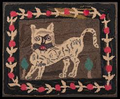 hooked rug wool and cotton on burlap jute new england probably maine 1875 1900 joseph and linda ca collection t089 2017 5