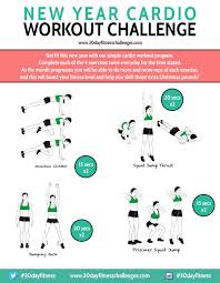 30 Day New Year Cardio Workout Challenge Chart Fit O Matic
