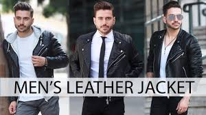 how to style a leather jacket men s fashion outfit inspiration 2017