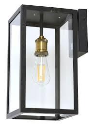 Lighting Southampton Southampton 1 Light Large Wall Bracket With Microwave Sensor In Antique Black