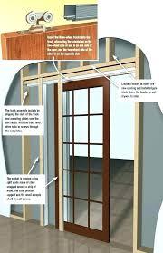 glass bedroom door above s