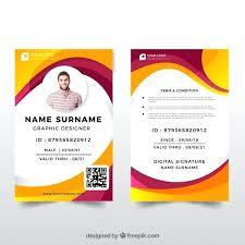 Id Card Design Template