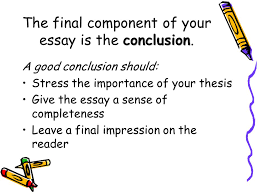 mastering the writing hspe ppt  the final component of your essay is the conclusion