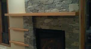 outdoor fireplace mantel decorating a patio rustic