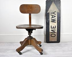 wooden casters antique furniture home office chair
