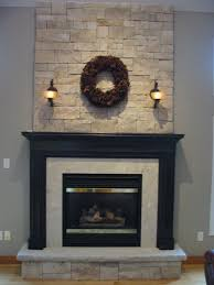 Stone, hearth and mantel ideas for our tall fireplace