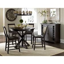progressive furniture willow distressed black round counter table hover to zoom
