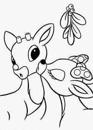 Christmas Coloring Pages Rudolph Red Nosed Reindeer
