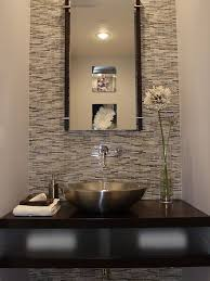 modern half bathroom. guest bath \u2013 room design with wood walls | powder design, bathroom wall tile, vessel sink, vanity modern half