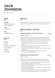 Painter Resume 24 Professional Painter Resume Samples ResumeViking 18