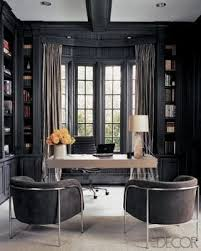 gray office ideas. dark gray office monique lhuillieru0027s study as seen in elle decor photo by roger davies color for built desk area instead of black ideas