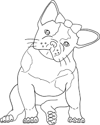 Small Picture Bulldog Coloring Pages For Kids English Bulldogs With Puppy