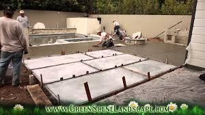Build A Concrete Patio Top Cast Concrete Patio Pour Youtube