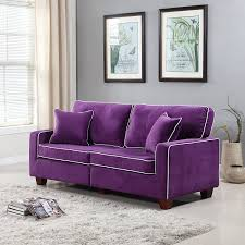 Purple Living Room Furniture Amazoncom Divano Roma Furniture Collection Modern Two Tone