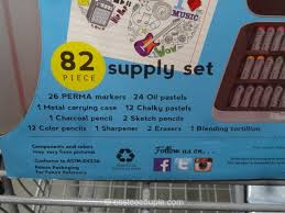 art 101 doodle draw and sketch supply set costco 4