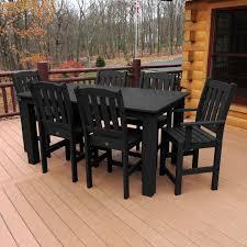 highwood weatherly round counter height 5 piece patio dining set hayneedle
