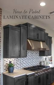 painted cabinets in kitchenGraphite Paper Word Art Tutorial  Paint laminate cabinets