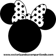 Minnie Silueta Vector   Minnie mouse silhouette, Mickey mouse monogram,  Minnie   Chuột minnie, Silhouettes, Illustration