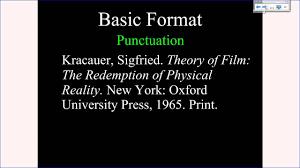 Mla Tutorial 2 Basic Citation Format