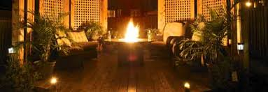 exterior deck lighting. Deck With Fire Pit And Lamps Exterior Lighting
