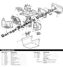 33 chamberlain garage door opener parts, chamberlain liftmaster  at Chamberlain 3 4 Whisper Drive Logic Board Wiring Diagram
