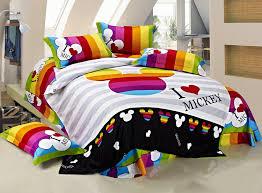 100 cotton kids bedding set king size mickey mouse full comforter regarding duvet decorations 9