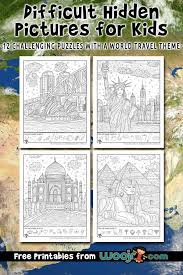 Hidden picture puzzles get your pencils ready and join in the fun! Difficult Hidden Pictures For Kids World Travel Woo Jr Kids Activities