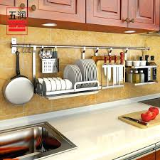hanging dish drainer get ations a five moistening kitchen wall shelf storage rack stainless steel dish