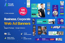 Multipurpose Business Banners Ad Template Psd Vector
