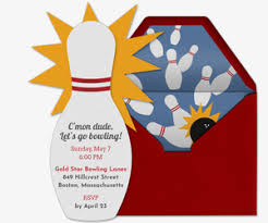 Bowling Party Invitations Send Free Online Bowling Party Or League Invitations Choose From