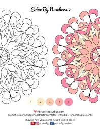 Printable Mandalas Coloring Page For Adults Color By Numbers 7 Free